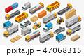 貨物自動車 フォークリフト 流通のイラスト 47068315