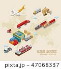 マップ 貨物 運送のイラスト 47068337
