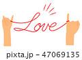 赤い糸 イラスト 04 47069135