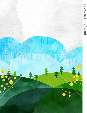自然風景 丘 山 空 コラージュ 47075271
