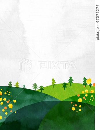 自然風景 丘 山 空 コラージュ 47075277
