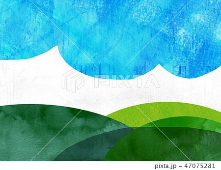 自然風景 丘 山 空 コラージュ 47075281