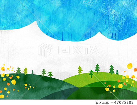 自然風景 丘 山 空 コラージュ 47075285