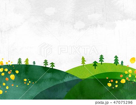 自然風景 丘 山 空 コラージュ 47075296