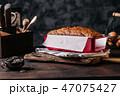 Form of baked bread loaf 47075427