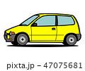 自動車 軽自動車 ベクターのイラスト 47075681