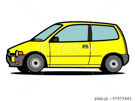 懐かしめ軽自動車 黄色 自動車イラスト 47075681