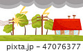 雷雨 ベクトル 災害のイラスト 47076377