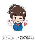 女子高生 ビューティー スキンケアのイラスト 47076811