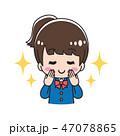 ネイル マニキュア 女の子のイラスト 47078865