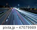 夜 道路 夜景の写真 47079989