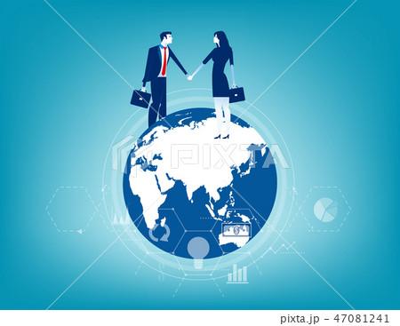 Global business. Business contact worldwide. 47081241