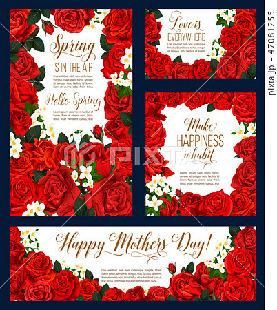 Mother Day spring flower greeting card design 47081255