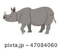 サイ さい 犀のイラスト 47084060