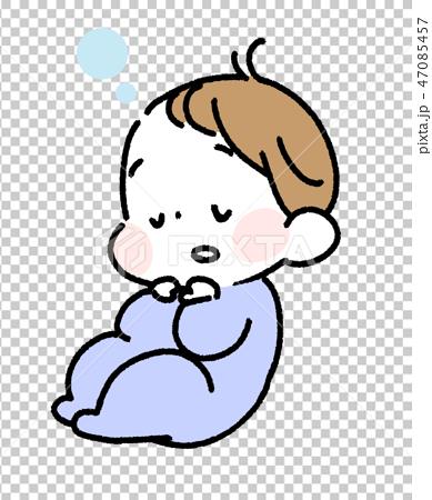 眠っている赤ちゃん 47085457