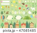 春の素材集4 47085485