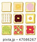 パン 食パン トーストのイラスト 47086267