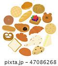 パン シンプル 食べ物のイラスト 47086268