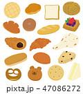 パン シンプル 食べ物のイラスト 47086272