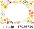 花 フレーム 植物のイラスト 47086739