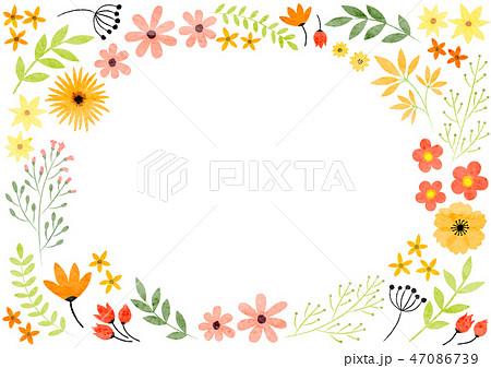 花のフレーム 47086739