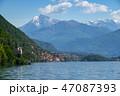 Como lake between mountains in Italy 47087393