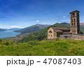 Old church near Como lake in Italy 47087403