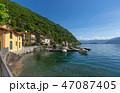 Como lake between mountains in Italy 47087405