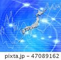 日本列島の白地図と株式投資 47089162