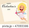 バレンタイン キューピット キューピッドのイラスト 47093386