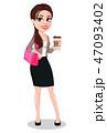 ビジネスウーマン 女の人 女性のイラスト 47093402