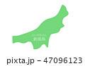 新潟県 地図 イラスト 47096123
