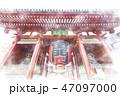 浅草の雷門 水彩画風 47097000