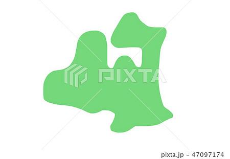 青森県 地図 イラスト 47097174