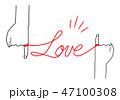 赤い糸 イラスト シンプル 01 47100308