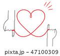 赤い糸 イラスト シンプル 02 47100309