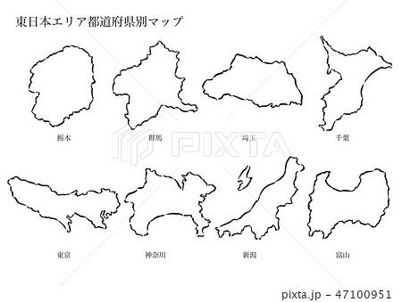 東日本エリア都道府県別マップ 47100951