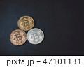 コイン ビットコイン 仮想通貨の写真 47101131