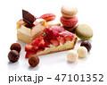 食べ物 スイーツ ケーキ ショートケーキ マカロン スイーツイメージ チョコレート ストロベリー 47101352