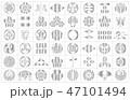 武将家紋銀2枠 47101494