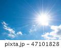 青空 雲 太陽の写真 47101828