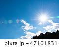 青空 雲 太陽の写真 47101831