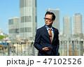 ビジネスマン 男性 スマートフォンの写真 47102526