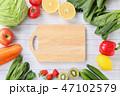 まな板 野菜 カッティングボードの写真 47102579