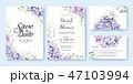 招待状 招待カード カードのイラスト 47103994
