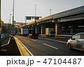 夕景 道路 産業道路の写真 47104487