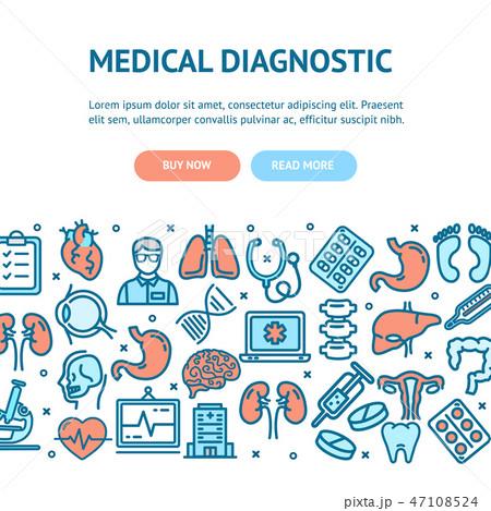 Medical Diagnostics Flyer Banner Posters Card. Vector 47108524