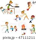 火事 避難 子どものイラスト 47111211