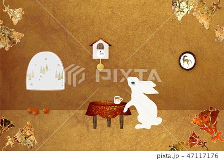 巣穴のウサギ ティータイム 47117176