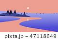 反映 写り 影のイラスト 47118649